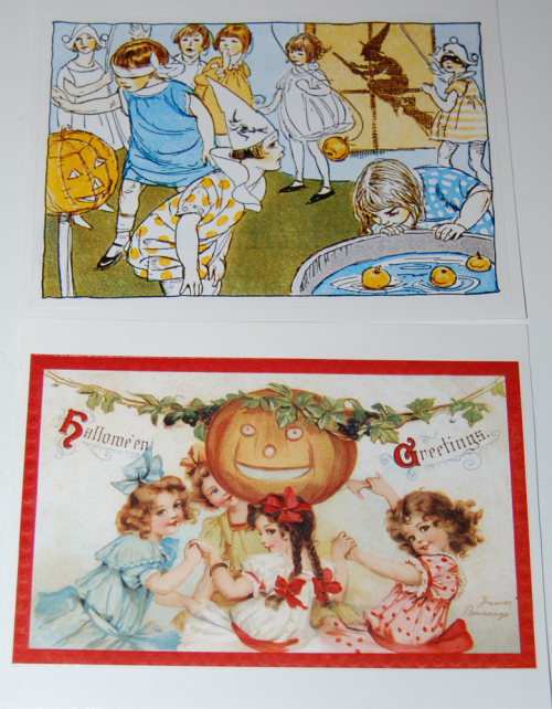 Halloween vintage labels 3