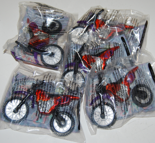 Wendy's kids meal moto cross toy lot