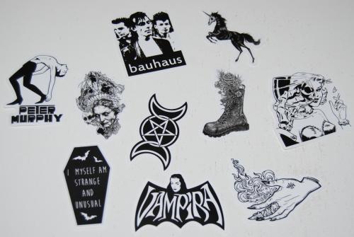 Goth stickers 2