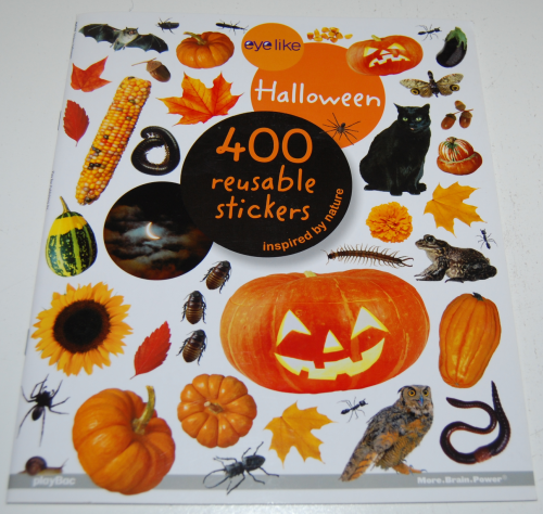 400 halloween stickers book