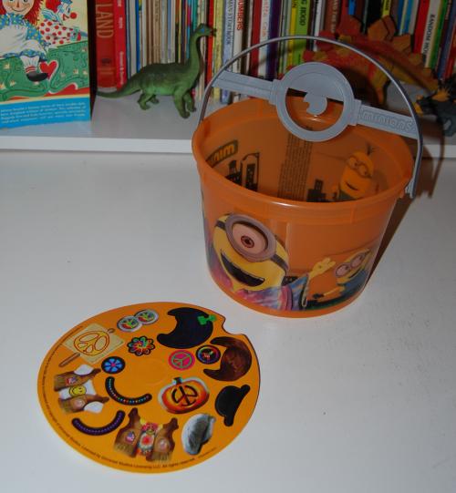 Minions halloween happy meal bucket 2015