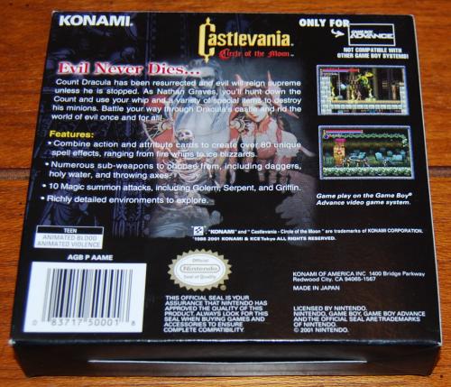Castlevania gameboy advance