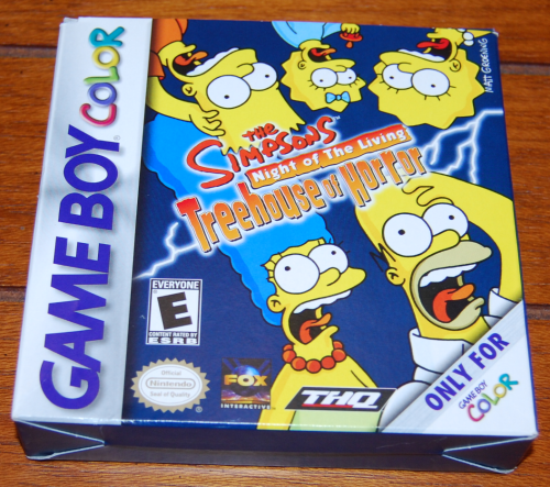 Simpsons treehouse of horror gameboy