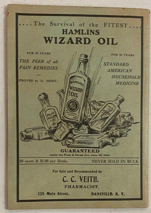 Hamlin wizard oil book x