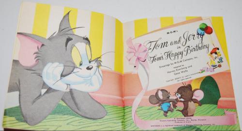 Tom & jerry birthday book x