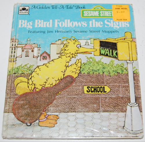 Big bird follows the signs