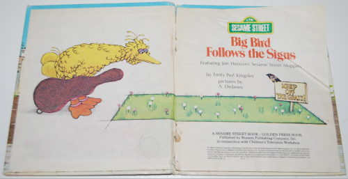 Big bird follows the signs 1