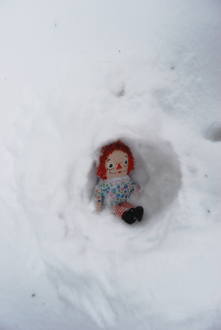 My annie in her snowcave