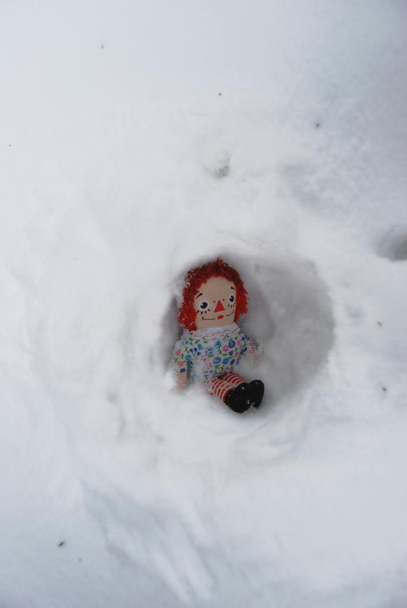 My annie in her snowcave