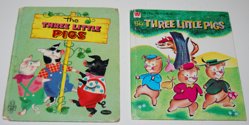3 little pigs book vintage