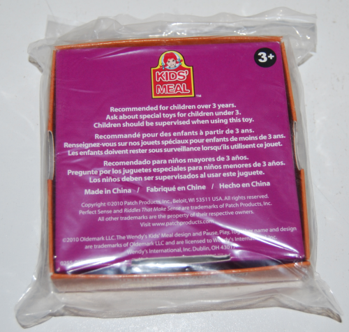 Wendy's kids meal games 5x