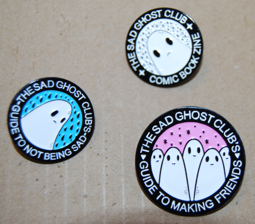 Sad ghost club badges