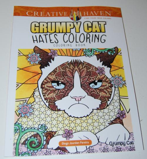 Grumpy cat hates coloring book