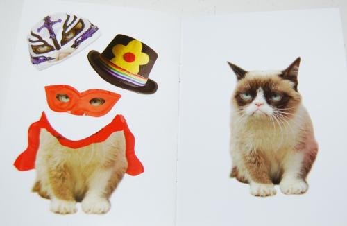Grumpy cat sticker paperdoll book 3