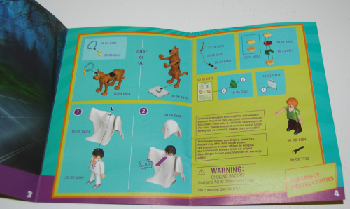 Playmobil scooby doo ghost toy instructions