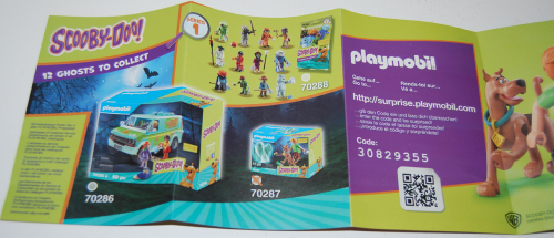 Playmobil scooby doo mystery machine pamphlet x