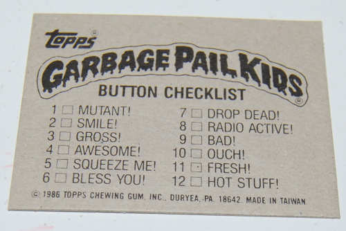 Garbage pail kids buttons