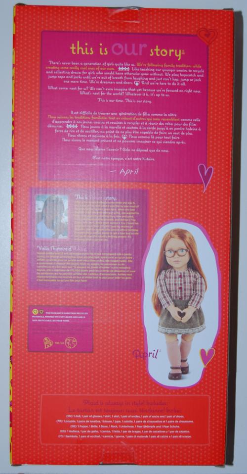 Our gen school girl doll april