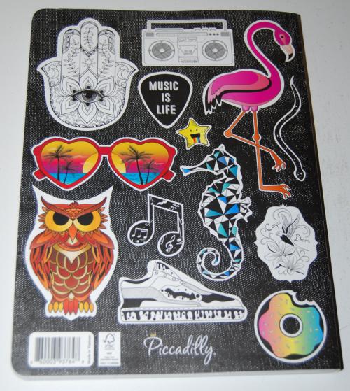 Sticker sketch book back