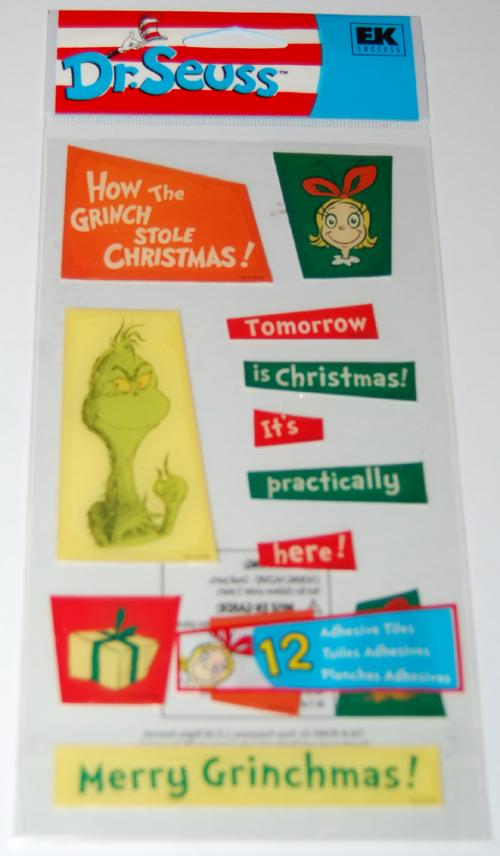Dr seuss grinch stickers