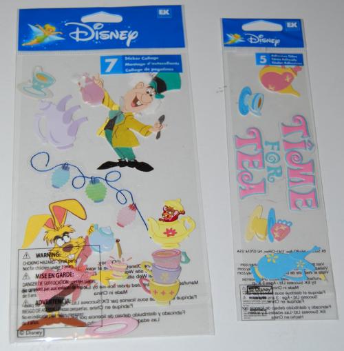 Disney alice in wonderland stickers x