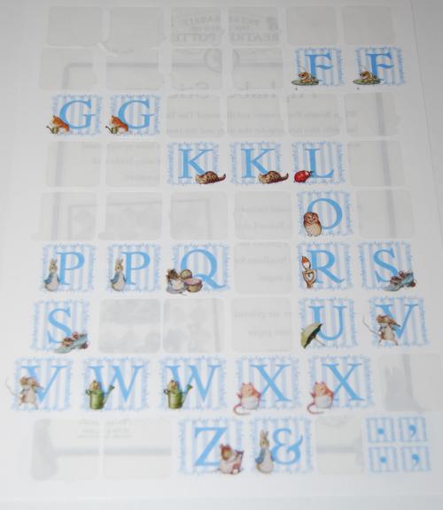 Beatrix potter stickers