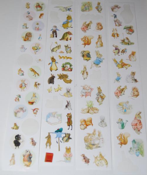 Beatrix potter mini stickers x