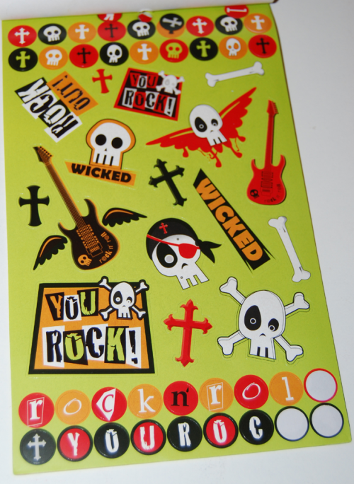 Rock out stickers xx