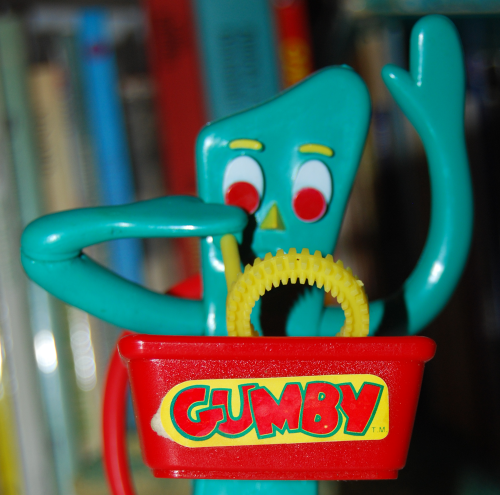 Gumby bubble blower 1