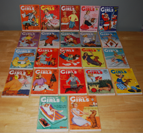 Vintage calling all girls magazines