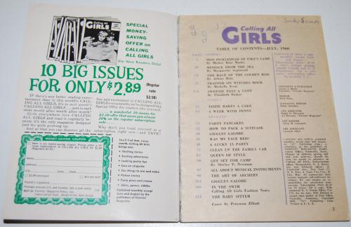 Calling all girls july 1960 1