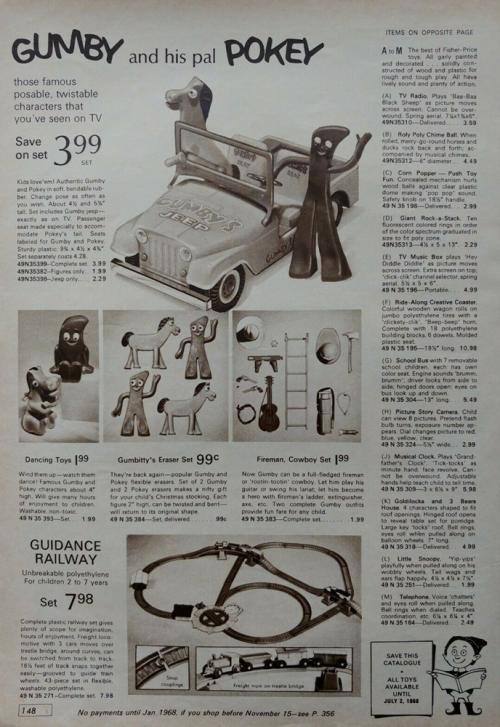 Vintage gumby ad