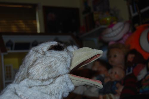 Folkmanis ostrich puppet