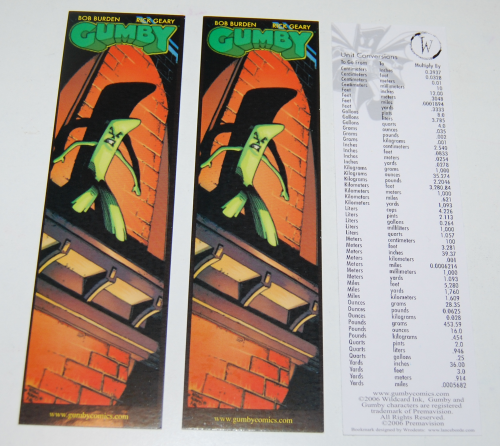 Gumby bookmarks