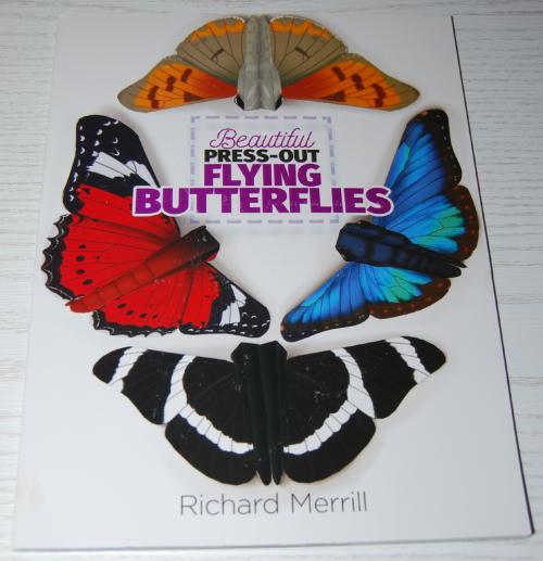 Beautiful pressout flying butterflies