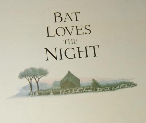 Bat loves the night x