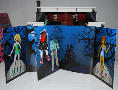 Ghoulish girls paperdolls book
