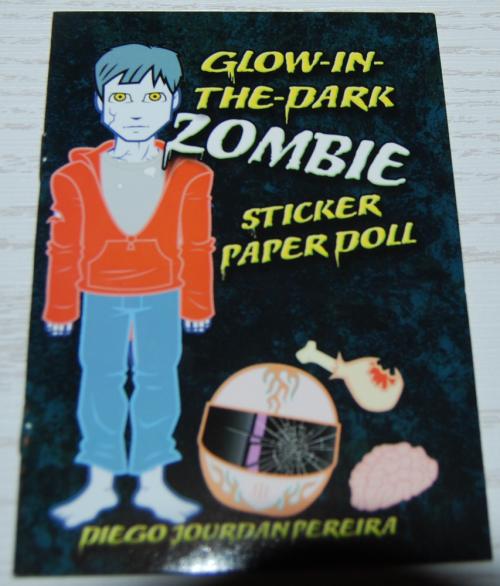 Glow in the dark zombie dover mini book