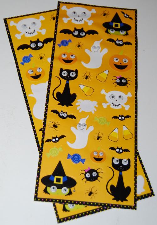 Halloween googly eye stickers