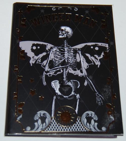 Winged man sticker book