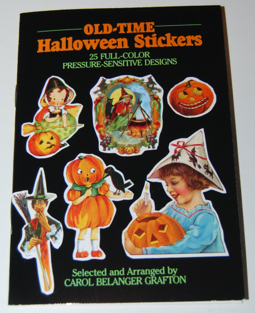 Old time halloween stickers book