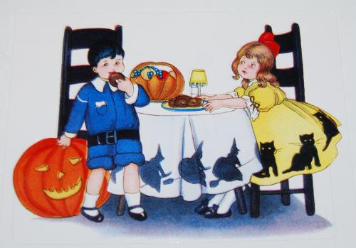 Halloween vintage labels x