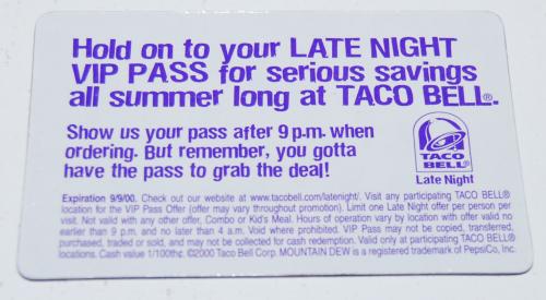 Taco bell card x