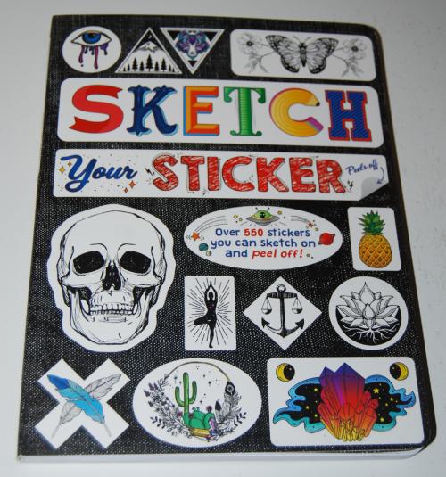 Sticker sketch book