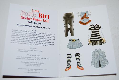 Little goth girl sticker paperdoll x