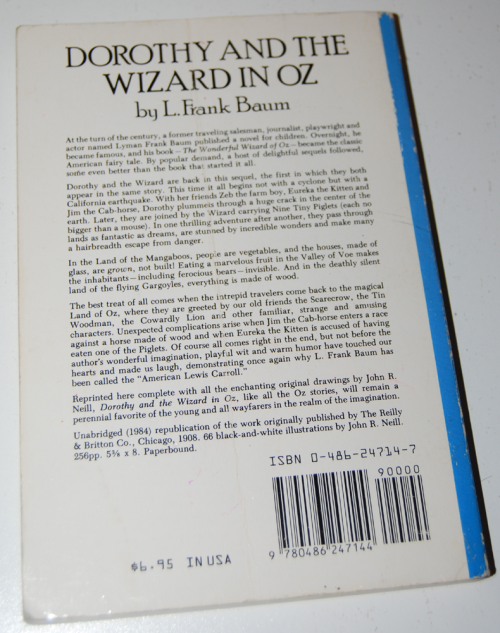 Dorothy & the wizard of oz book