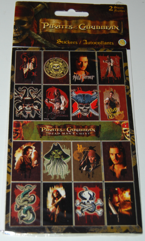 Pirates of the caribbean stickers