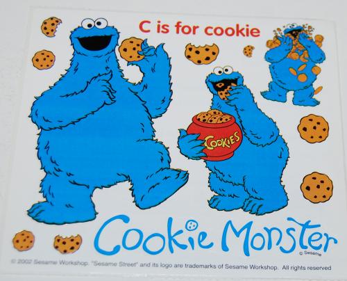 Sesame street stickers cookie monster