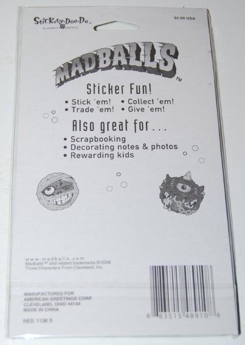 Vintage madballs stickers x