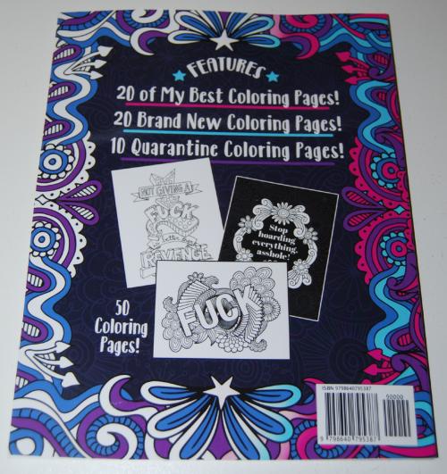 Swearing coloring books x